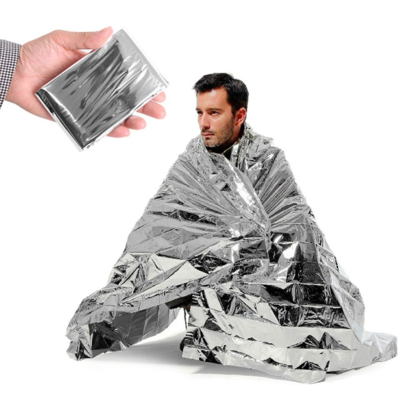Set of 10 Emergency Blanket Survival Solar Insulating Mylar Thermal Heat
