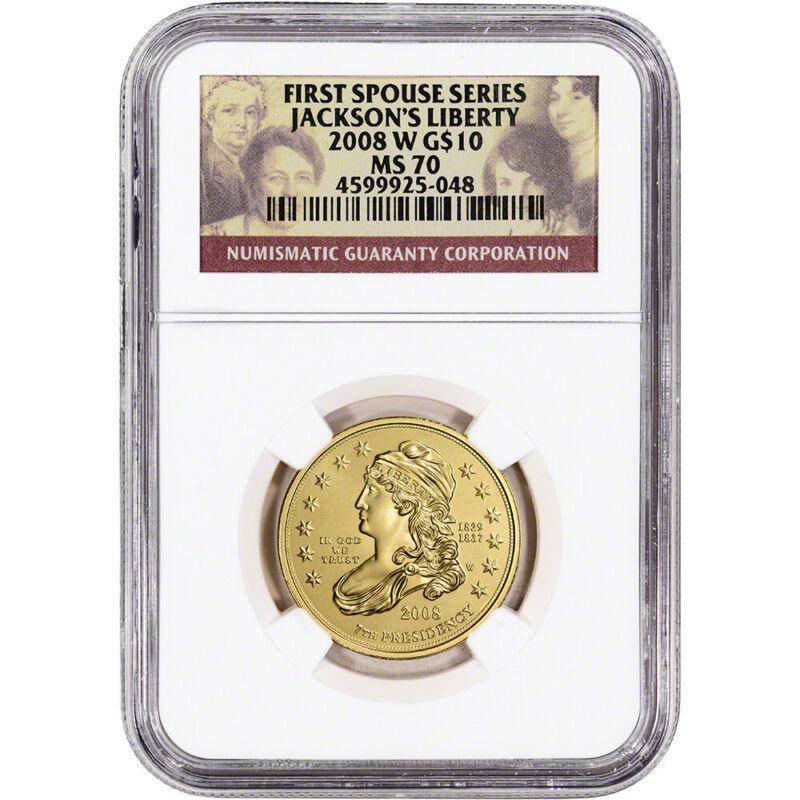 2008-W US First Spouse Gold 1/2 oz BU $10 - Andrew Jackson
