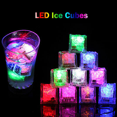 1Pc Constantly Bright Glow LED Ice Cubes Fluorescent Lights Props Wedding Bar