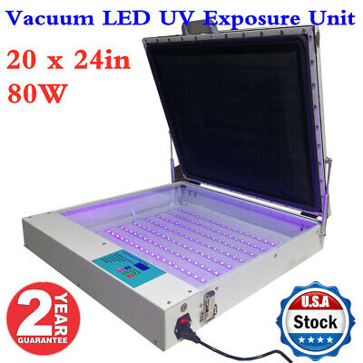 20 X 24in Tabletop Precise 80w Vacuum Led Uv Exposure Unit For Screen Printing