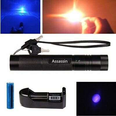 Upgraded Blue Purple Laser Pointer Pen Visible Beam Lazer 1 Mw 18650charger