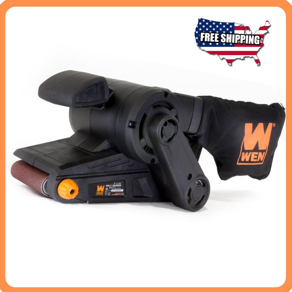 7-Amp 3 in. x 21 in. Corded Belt Sander with Dust Bag, Tool-