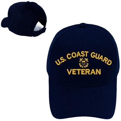 Coast Guard Baseball Hat - USCG VETERAN COAST GUARD VETERAN MILITARY BASEBALL CAP HAT