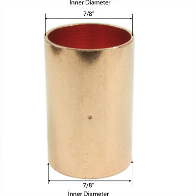 Libra Supply 34 Inch 34 Copper Coupling With Dimpled Stop C X C 50pcs