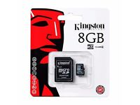 Kingston 8GB SD Card with Adapter