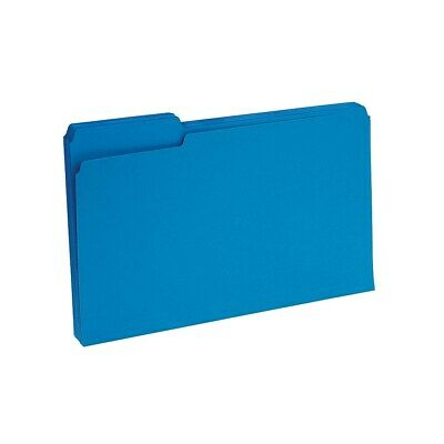 Staples Colored Top-tab File Folders 3 Tab Blue Legal Size 100pack 224568