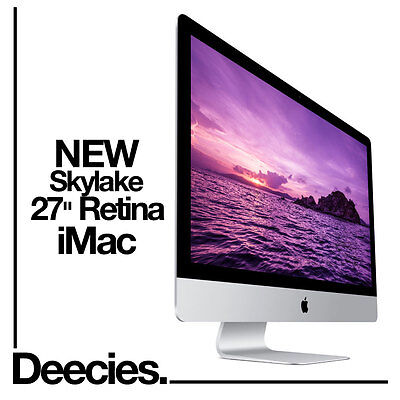 "NEW 2017 Apple Retina iMac 27"" 5k 4.2Ghz i7 Kaby Lake 32GB 3TB Fusion Radeon 580"