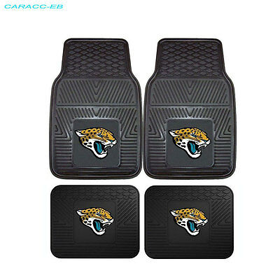 NEW 4pcs NFL Jacksonville Jaguars Car Truck Front Back 3-D Rubber Floor Mats Set Jacksonville Jaguars Nfl Car Mats