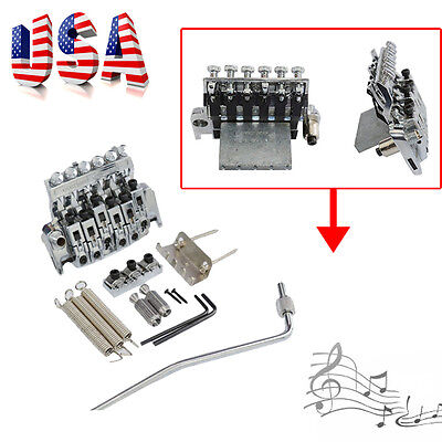 Best Pro Silver 6 Strings Tremolo System Double Locking Guitar Tremolo Bridge (Best Locking Tremolo System)