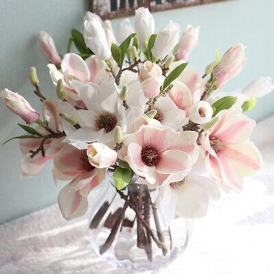 Artificial Fake Flowers Leaf Magnolia Floral Wedding Bouquet Party Home Decor ()
