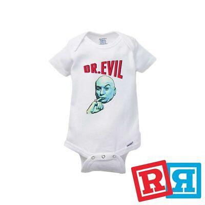 Dr. Evil Baby Onesie Austin Powers Spy Comedy Bodysuit Gerber Organic Cotton - Comedy Onesies