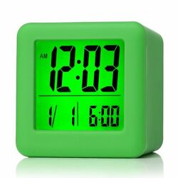 Plumeet Digital Travel Alarm Clock w/ Snooze, Soft Nightlight, Large Display