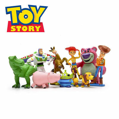 Toy Story  Woody Jessie Dinosaur Lotso 9 PCS Action Figures Gift Dolls Kids Toys (Cinderella Gifts)