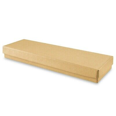 10 New 8 X 2 X 78 Kraft Jewelry Gift Boxes Cotton Filled