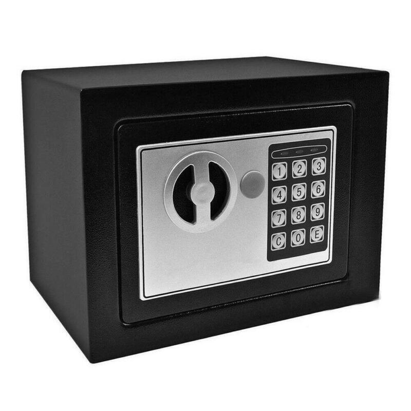 New Small Black Digital Electronic Safe Box Keypad Lock Home Office Hotel Gun