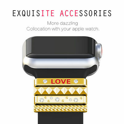 For Apple Watch Stainless Steel  ring Replacement Strap 38/40mm 42mm/44mm