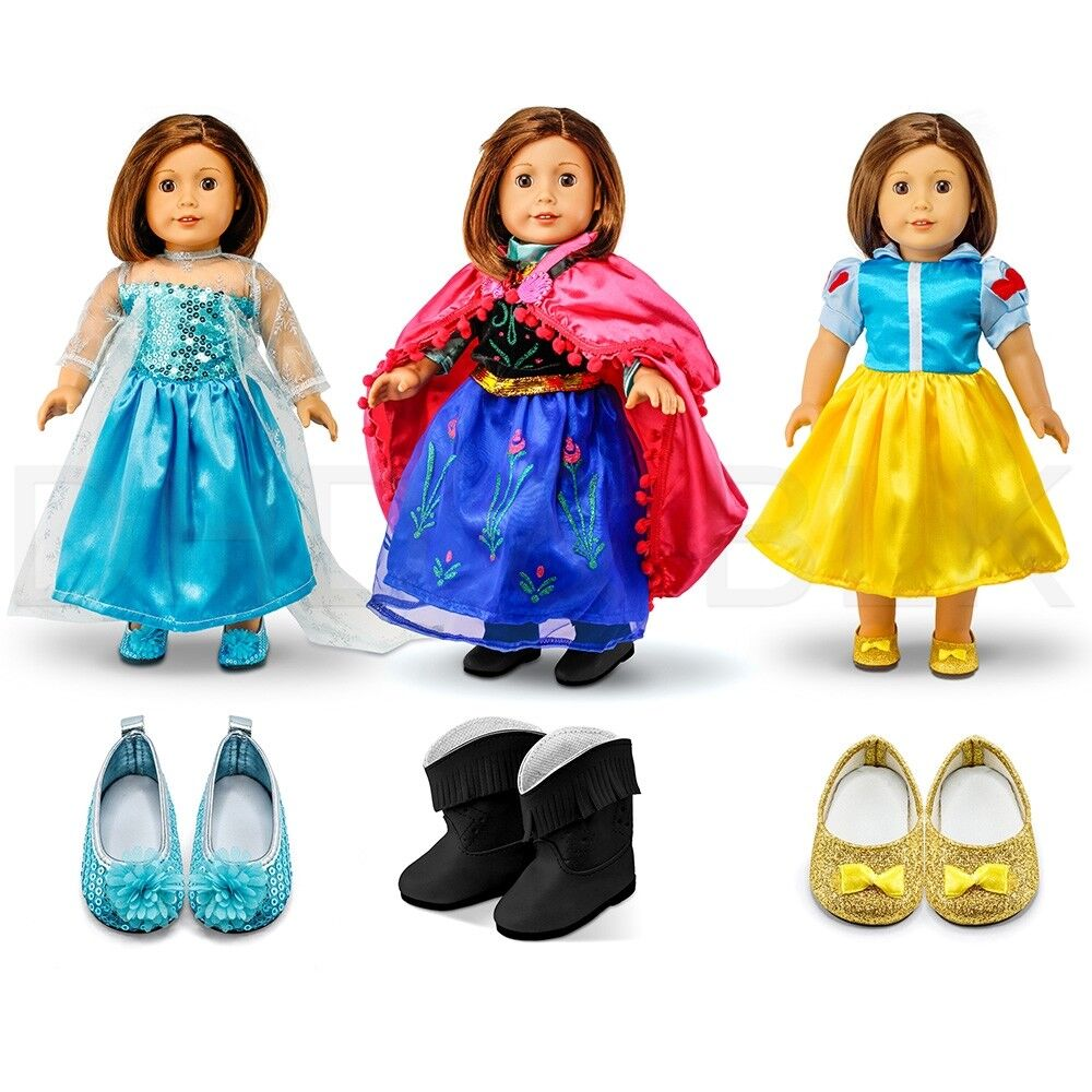 "For American Girl 18"" Inch Dolls Princess Dress Clothes Outf"