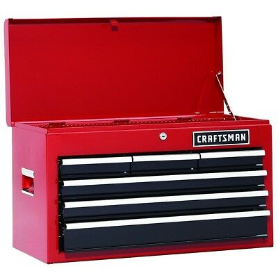 Craftsman 26' Ball Bearing - Craftsman Heavy Duty 26 Inch Tool box Top Chest Tools Ball Bearing Organizer Red