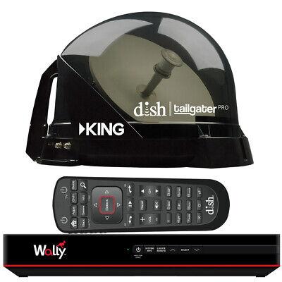 KING DISH Tailgater Pro Premium Satellite Portable TV Antenna w/ FREE Wally ()
