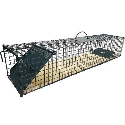 Lebendfalle mit Holzboden 80x19x16 Tierfalle Rattenfalle Drahtfalle Iltisfalle  ()