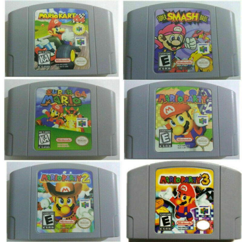 Mario Kart 64 - Party 123 -- Video Game Cartridge For Nintendo N64 Console NEW