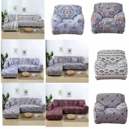 Stretch Fabic Sofa Cover Slipcover Couch Cover For 1/2/3/4 S