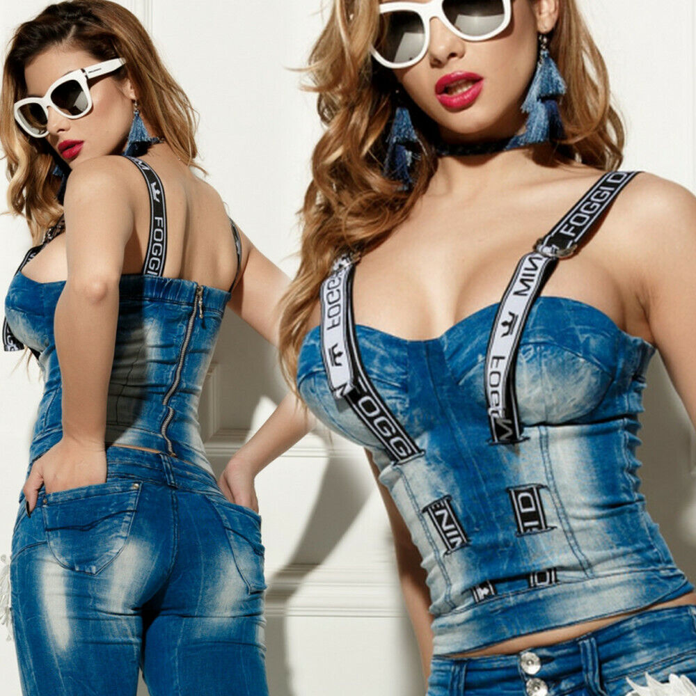 FOGGI Damenbluse Bluse Tunika T-Shirt Longshirt Oberteil Jeanstop 34-36 #F541
