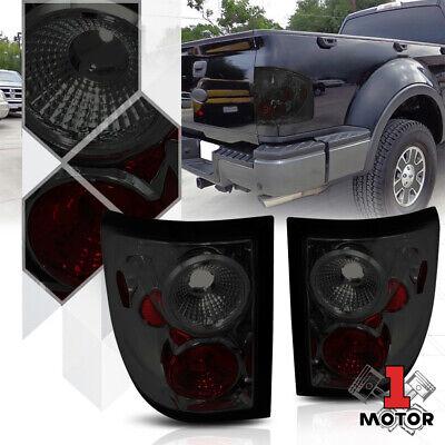 Chrome/Smoke *EURO ALTEZZA* Tail Light Rear Brake Lamp for 04-08 F150 Flareside