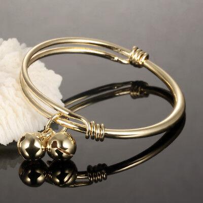 Baby Girl Boy Bangles Bracelet Gold Color Bells Pendant Children Jewelry Anklet Baby Boy Jewelry