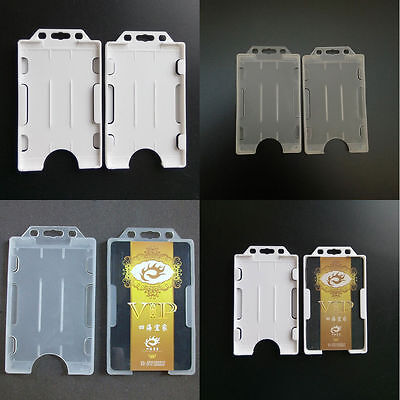 Double Side Plastic ID Card Case Cover Credit Card Holder Lanyard Reusable](Plastic Lanyard)