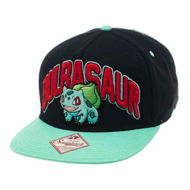 Pokemon - Snapback Baseball Cap - Bulbasaur - Black/Turqouise