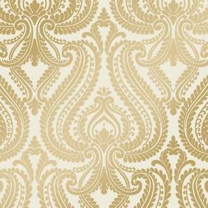 gold metallic wallpaper wallcoverings - photo #25
