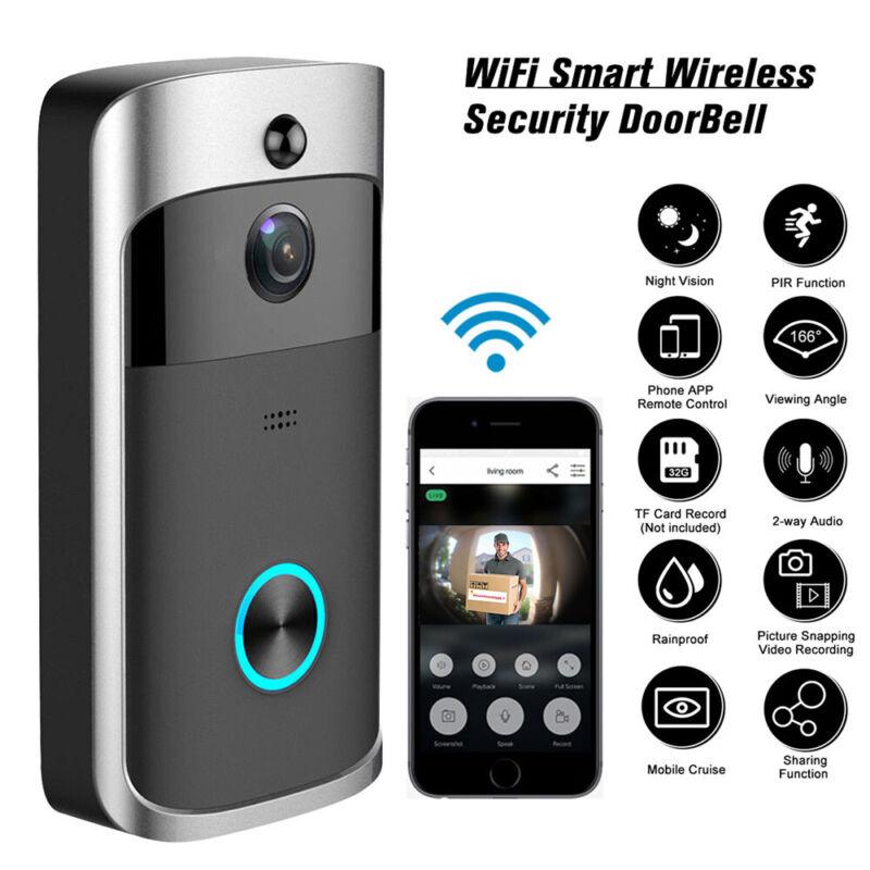 Smart Wireless WiFi Ring Doorbell Phone Door Ring Intercom Security Camera Bell