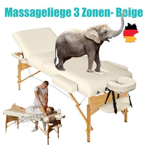 Massageliege Mobile Massageliege inkl. Tasche Holzfüßen Massagestuhl bis 250kg