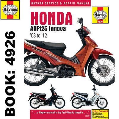 Honda ANF125 Scooter Haynes Manual Innova 2003-12 Workshop Manual