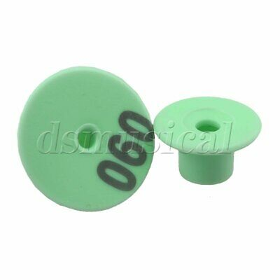 100 X Green Plastic 1-100 Number Round Livestock Ear Tag For Pigs Sheep Goats
