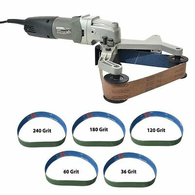 Electric Round Pipe Bar Belt Sander Polisher Kit Sanding Polishing