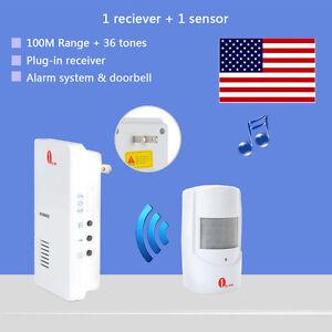 Security Infrared Driveway Wireless Motion Outdoor Alarm Sensor Alert Detector