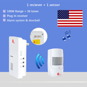 Awesome Security Infrared Driveway Wireless Motion Outdoor Alarm Sensor Alert  Detector