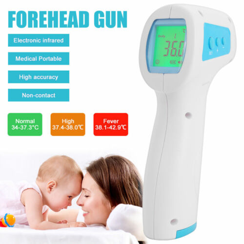 Non-Contact Infrared Thermometer Gun LCD Digital Forehead Fever Baby/Adult Meter