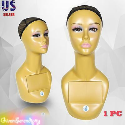 Realistic Plastic Female Mannequin Head Lifesize Display Wig Hat 18 A3