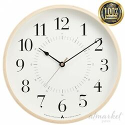 Lemnos TOKI Radio clock AWA13-05 WH white Wall clock Analog genuine from JAPAN