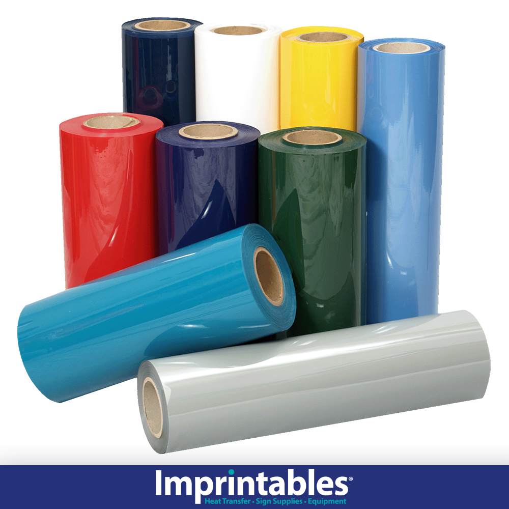 """15"""" EcoFilm Heat Transfer Vinyl - 30 Colors and 5 roll lengths"""