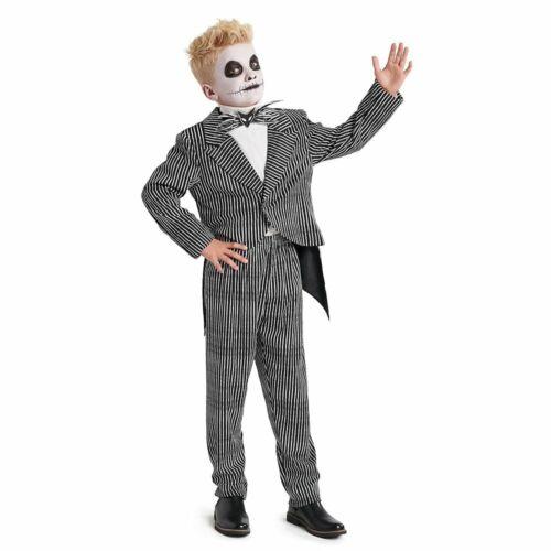 Disney Nightmare Before Christmas Jack Skellington Costume Boys 3 4 5/6 7/8 9/10