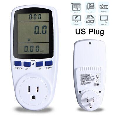 Digital Lcd Power Saving Energy Monitor Watt Amp Volt Kwh Meter Analyzer Stock