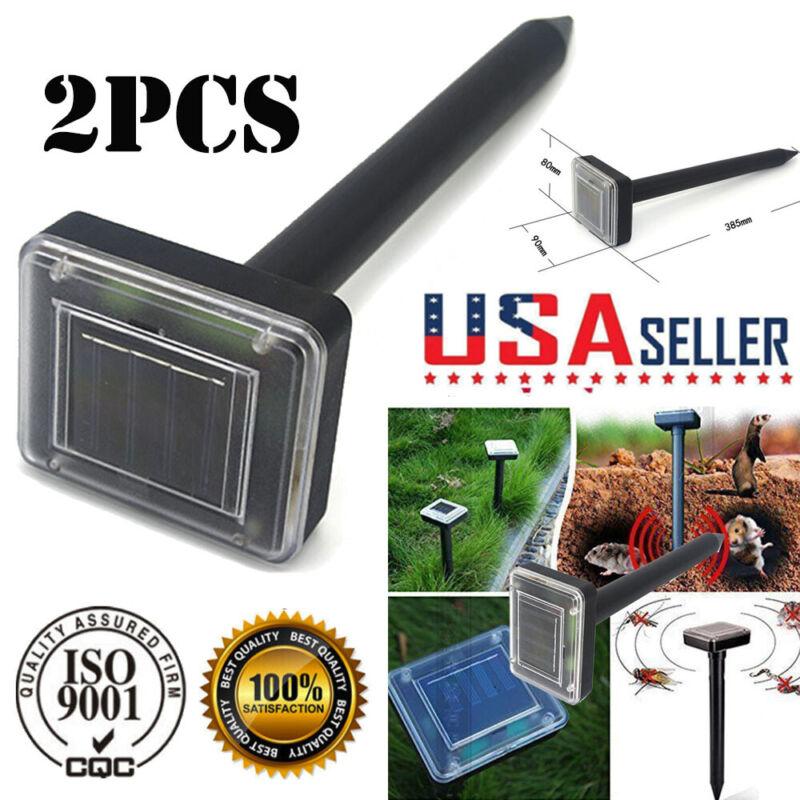 2pc yard solar power ultrasonic sonic mouse