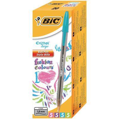 BiC Cristal Fun 4 Bolígrafos de punta de bola Rosa, azul, verde,...