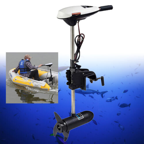 12v 65lbs electric outboard motor boat engine short shaft for Electric trolling motor battery size