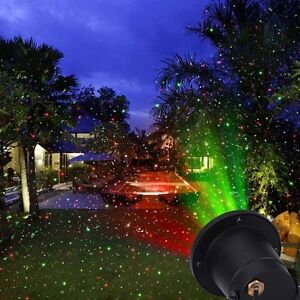 Rot Grün LED Laser Laserlicht Projektor Beleuchtung Gartenlicht Xmas WASSERDICHT