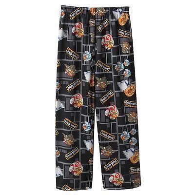 NEW Boy STAR WARS ANGRY BIRDS GAME Pajama Lounge Pants Sleep Pants S 4/5